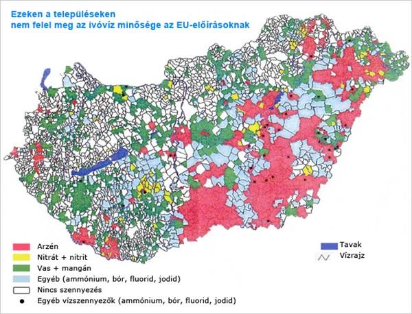 ivóvíz problémák Magyarországon