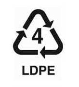 4-es jelzésű műanyag