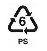 6-os jelzésű műanyag
