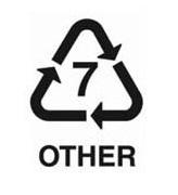 7-es jelzésű műanyag