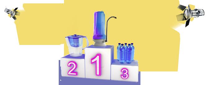 ásványvíz vs. víztisztító kancsó vs. vízszűrő
