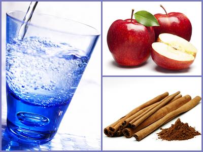 Almás fahéjas ízesített víz