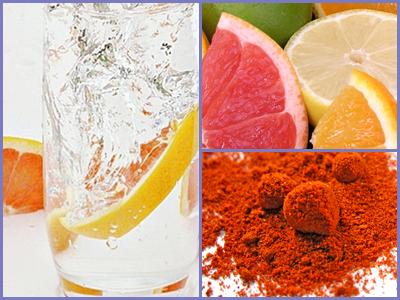 Citrusos ízesített víz