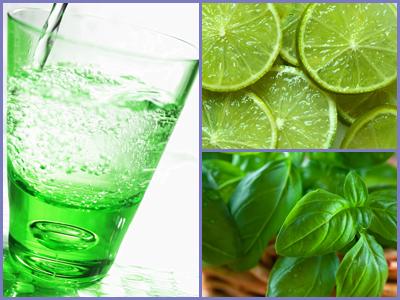 Lime Bazsalikom - ízesített víz