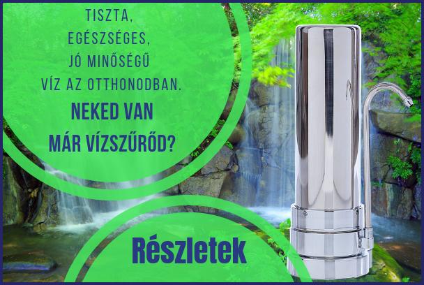 Vízmegoldás vízszűrő - tiszta víz