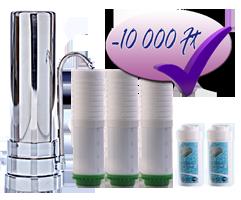Favorit vízszűrő csomag - konyhai vízszűrő és betétek és zuhanyszűrő