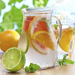 citrom-lime-grapefruit víz