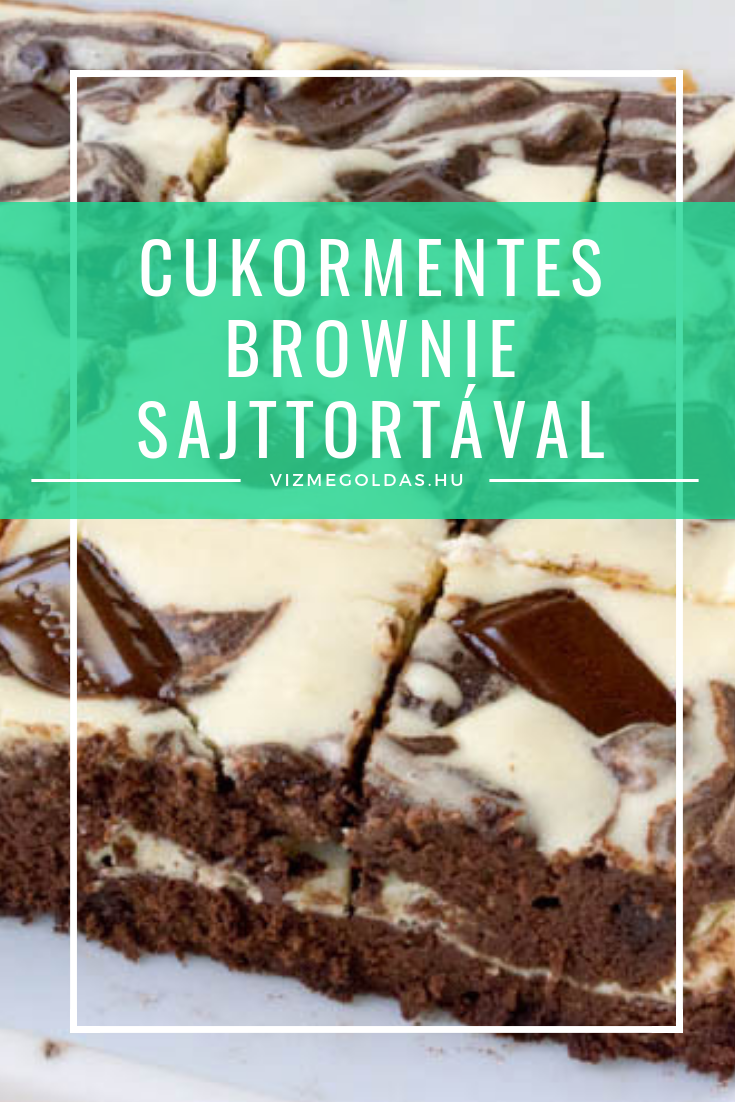 cukormentes brownie sajttortaval